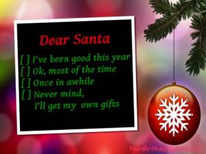 Holiday, Christmas, quotes, funny, santa, list