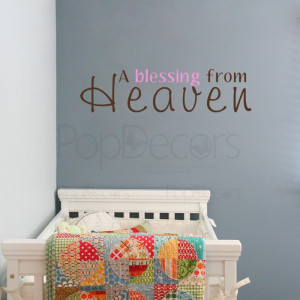 blessing from Heaven-words and letters decals