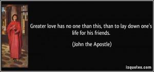 John the Apostle Quote
