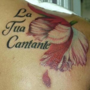 tattoo with italian love quote italian flag and text tattoo italian ...