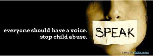 Child Abuse Facebook Timeline Cover