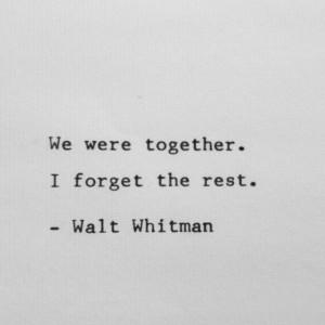 Walt Whitman Quote on Love