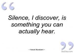 silence haruki murakami