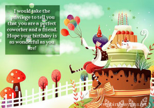 Birthday Sayings for Co Worker