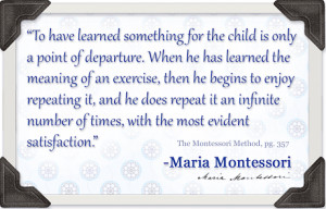 repetition also comes from being in the environment a child
