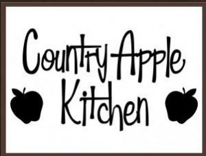 country apple kitchen Vinyl Decor Decal Sticker Home Wall Art Quote