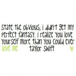 Taylor Swift Quote Lyric Picture