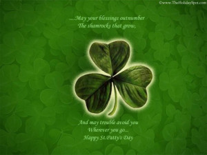 Funny quotes saint patricks day quote and picture of green clover