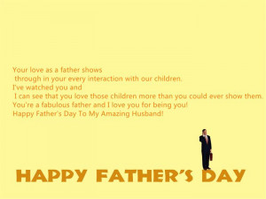 ... These Lovely Happy Father's Day Quotes From Wife To Husband Below