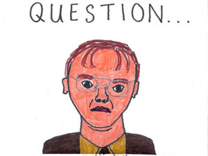 Dwight Schrute Question Dwight schrute is pictured