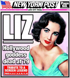 Or did you think of old Liz, who had largely stopped acting, grown ...