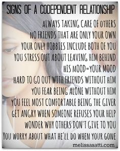 ... codependent relationship http://melissasatti.com/signs-of-codependent