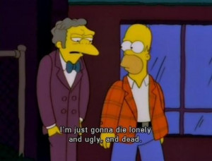 life depressed sad lonely quotes cartoon the simpsons homer television ...