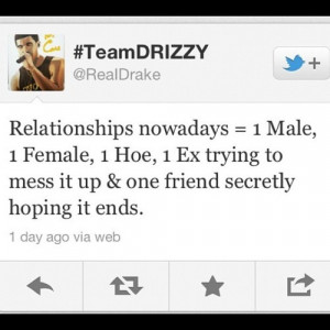 drake, female, friend, hoe, quotes, relashonships