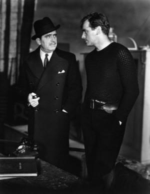"Douglas Fairbanks Jr. and Sr. on the set of ""Jump for Glory"" (1936 ..."