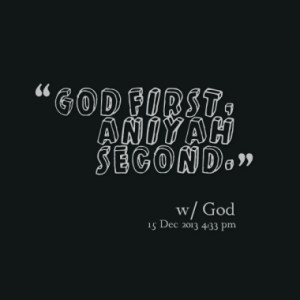 God First Quotes
