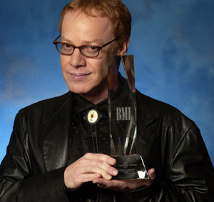 Danny Elfman shows off his Outstanding Career Achievement Crystal at ...