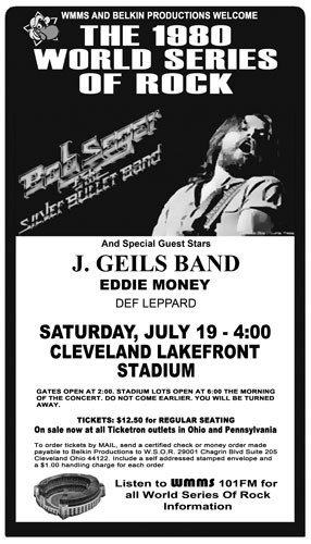 ... Band, Eddie Money and def Leppard. I remember saying who are they? lol