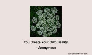 You Create Your Own Reality .