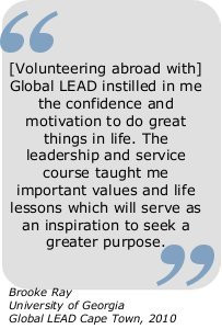 Volunteering Abroad with Global LEAD instilled in me the confidence ...