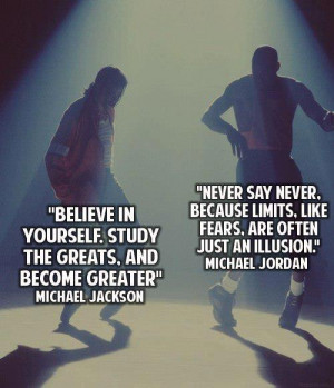Motivational Quotes : Believe in yourself and Never say never
