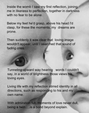 twins sister poems | Twin's Bond