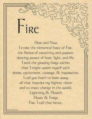 Invocation of the element fire