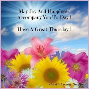 Happy Thursday y'all!