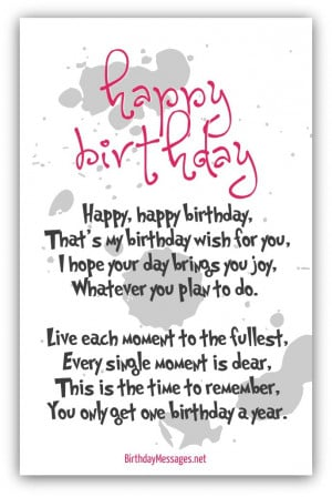 birthday poems for someone special