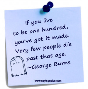 Best George Burns Quotes of All Time
