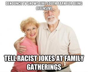 double-standard-racist-grandparents-funny-meme