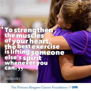 ... is lifting someone else's spirit whenever you can.