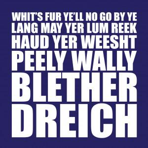 Scottish Sayings