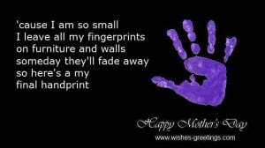 Handprint mothers day poems kids