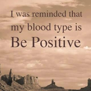 Be Positive - quotes Photo