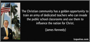 The Christian community has a golden opportunity to train an army of ...