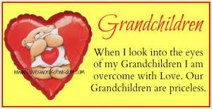 grandchildren when i look into the eyes of my grandchildren i am ...
