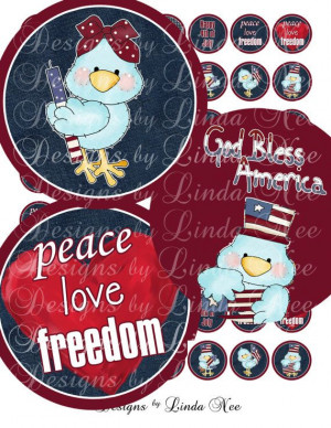 NEW- American Pride Fourth of July Patriotic Quotes (1 inch round ...