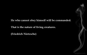 ... . That is the nature of living creatures.
