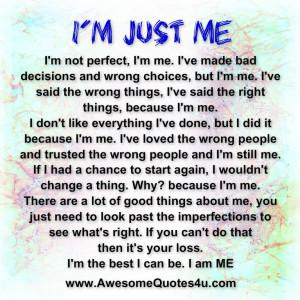 Im just me quotes
