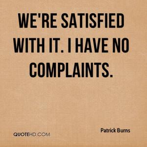 Patrick Burns Quotes