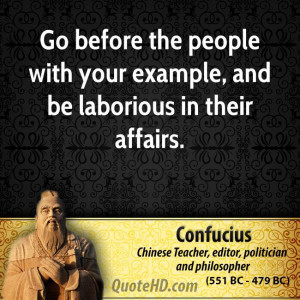 ... the people with your example, and be laborious in their affairs