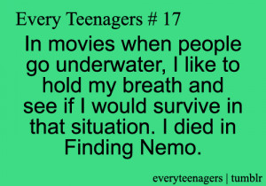 finding nemo, funny, movies, quotes, relateable, survival, teenager ...