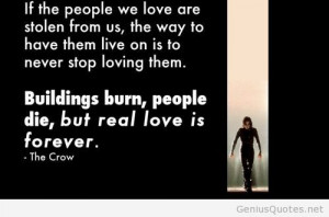 Stolen people love – The Crow quote