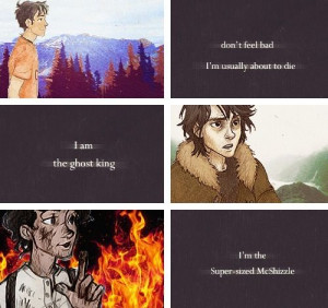 Percy Jackson, Nico Di Angelo, and Leo Valdez quotes from Percy ...