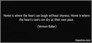 Vernon Baker Quote
