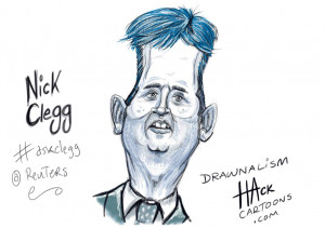 Nick Clegg MP. Live drawn at Thomson Reuters 13th July 2009 © Matt ...