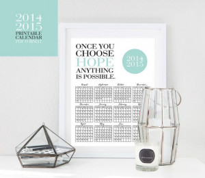 ... DIY. Printable Calendar 2014 Inspirational Quotes by ENIGMALUXE, $7.99