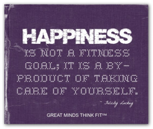 Purple Happiness and Fitness Poster