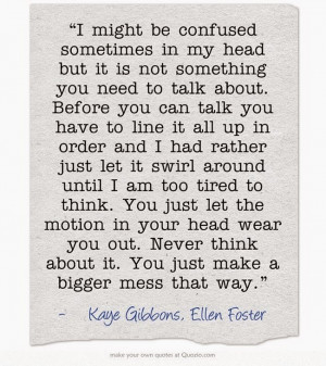 Ellen Foster author Kaye Gibbons